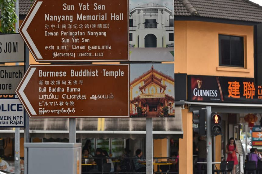The signs for the Burmese Buddhist Temple and Sun Yat Sen Nanyang Memorial Hall along Ah Hood Road also now have Malay and Tamil translations.