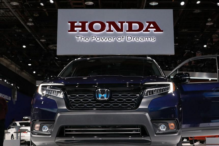A Honda display at the North American International Auto Show in Detroit, Michigan, on Jan 15, 2019.