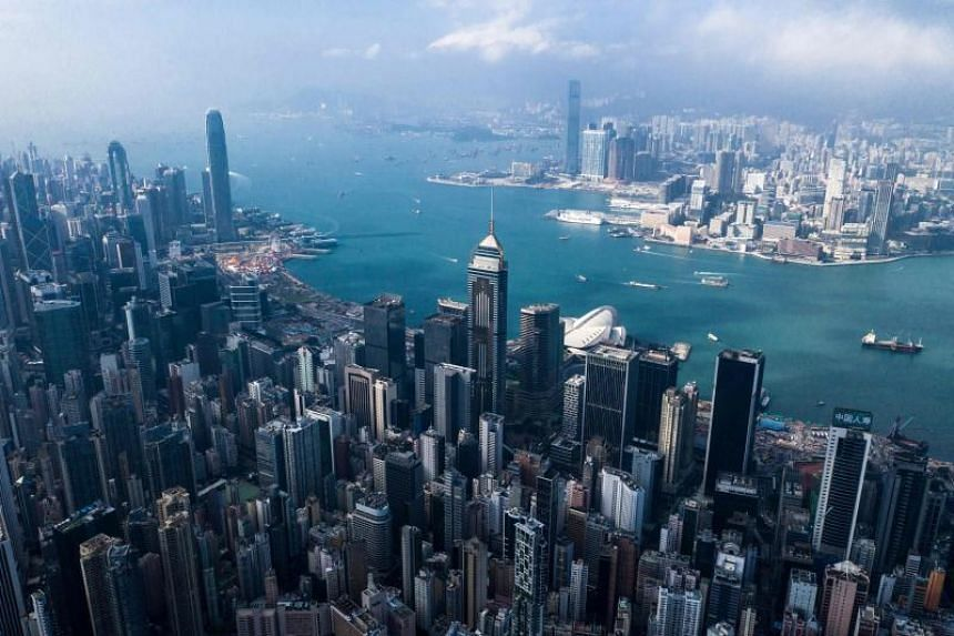 A general view of the skyline of Hong Kong in an aerial photo taken on Dec 19, 2018.