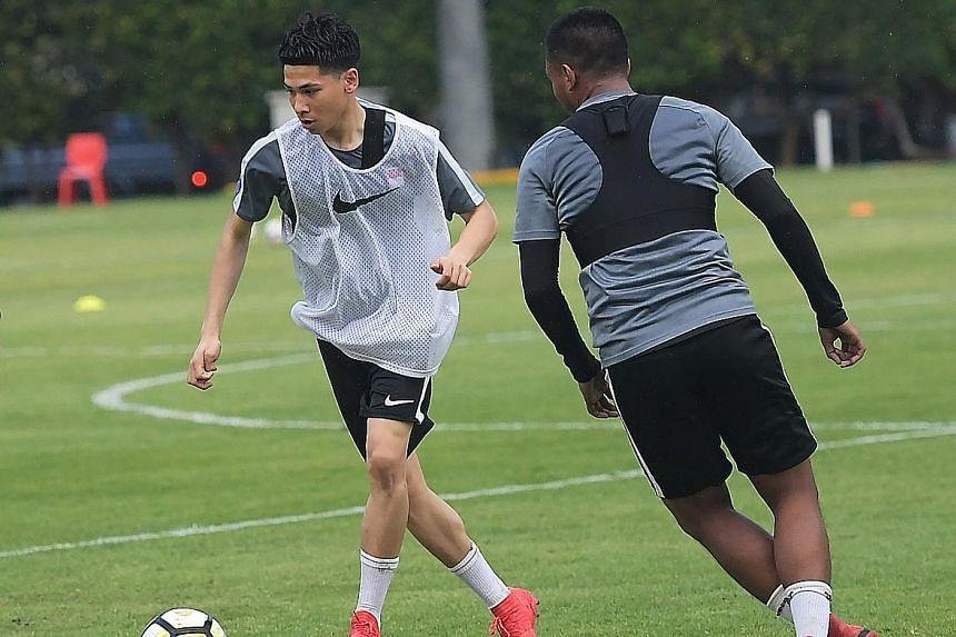 Mindef said footballer Ben Davis failed to report for NS as required and is also staying overseas without a valid exit permit. The 18-year-old signed professional terms with English Premier League club Fulham last July.
