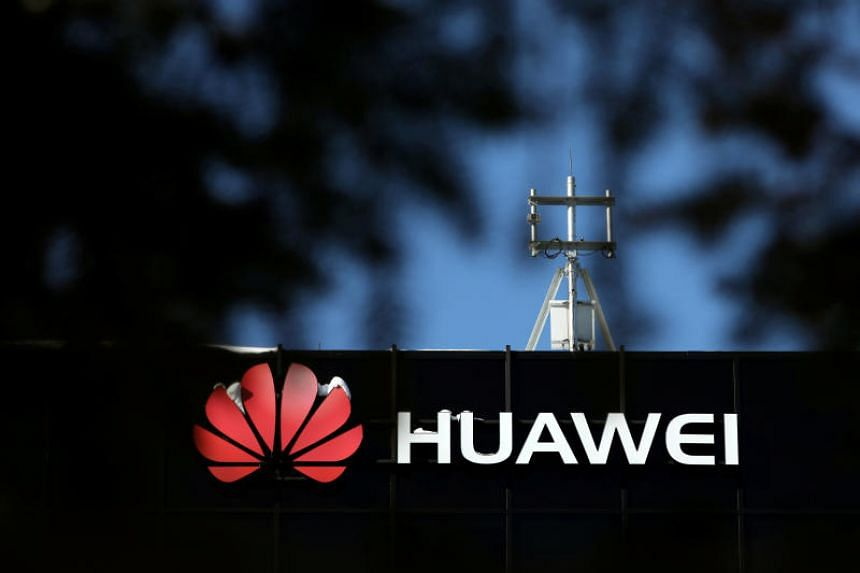 The Huawei logo outside their research facility in Ottawa, Ontario, Canada, on Feb 14, 2019.