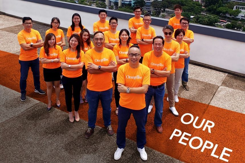 OrangeTee's Digital Transformation Team - paving the way to become a TechProp company. PHOTO: ORANGETEE