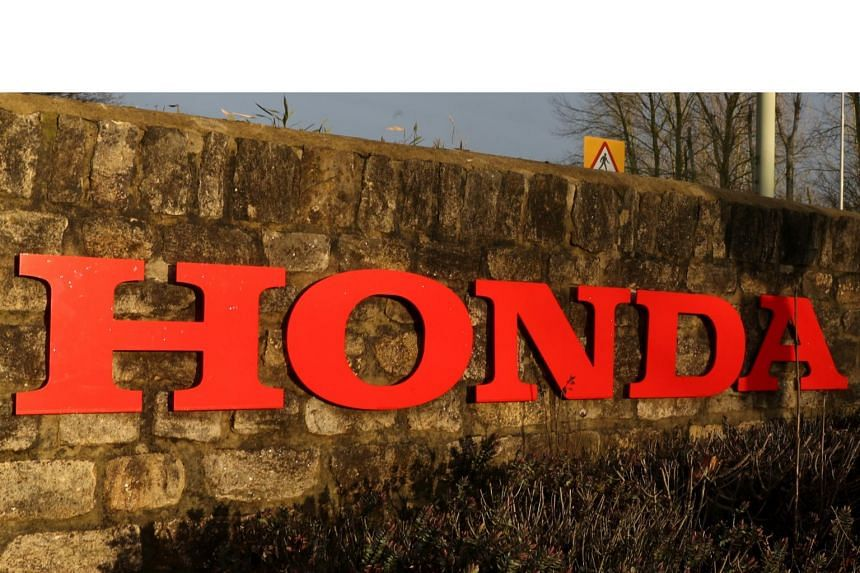 A sign outside the Honda plant which the Japanese firm is planning to close in Swindon, England.