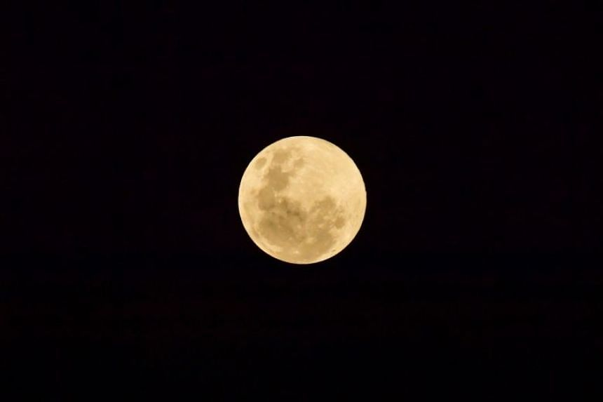 The Supermoon at 8.27pm on Feb 19, 2019. Another supermoon will light up the sky on March 21, 2019.