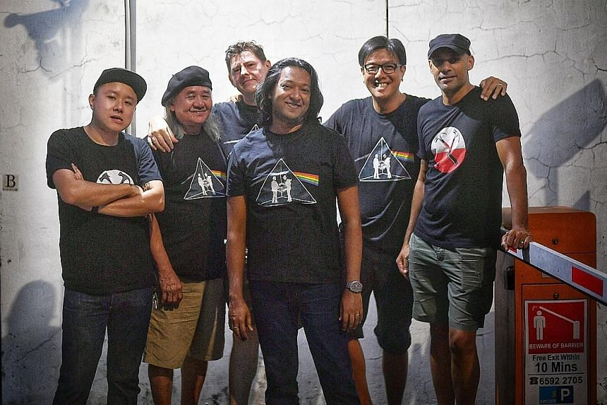 Welcome To The Machine comprise (from left) Yuk Wong, Lim Kiang, Laurence Bucci, Arindam Chatterjee, Noel Ong and David Baptista.