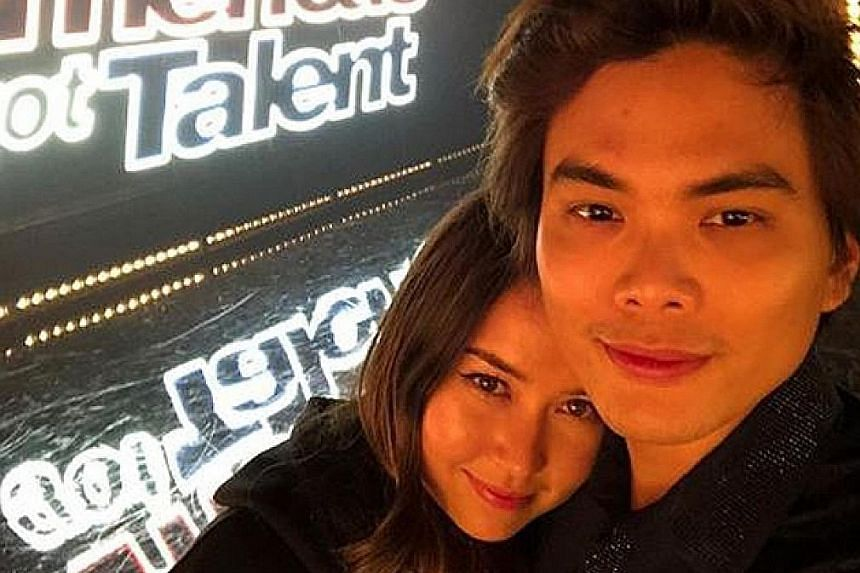 Magician Shin Lim with his fiancee, dancer Casey Thomas. The duo are getting married in August.