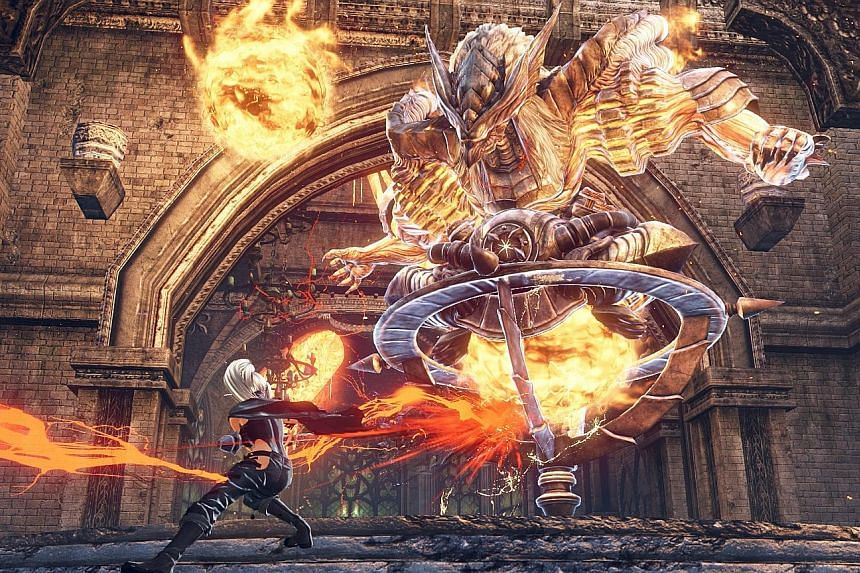 In God Eater 3, players jump into the map, locate their target monsters and bring them down.