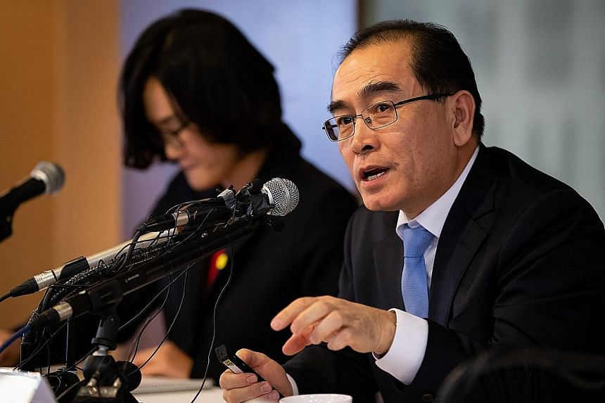 Mr Thae Yong Ho was deputy ambassador at the North Korean embassy in London before defecting to South Korea in 2016.