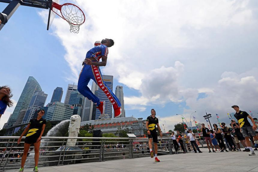Globetrotters, triathletes show glimpses of what to expect in two upcoming events