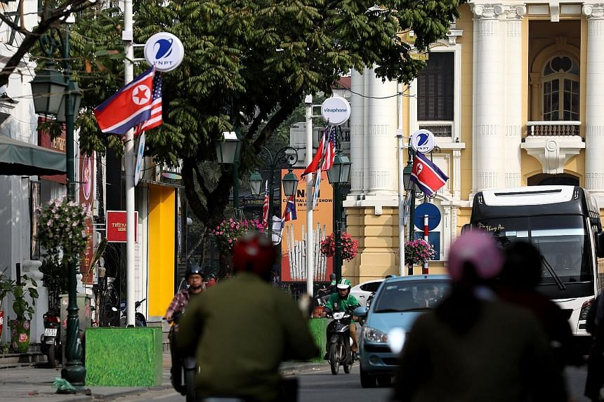 US and North Korean flags were put up along the streets of Hanoi ahead of next week's summit between North Korean leader Kim Jong Un and US President Donald Trump. US Special Representative for North Korea Stephen Biegun was travelling to the Vietnam