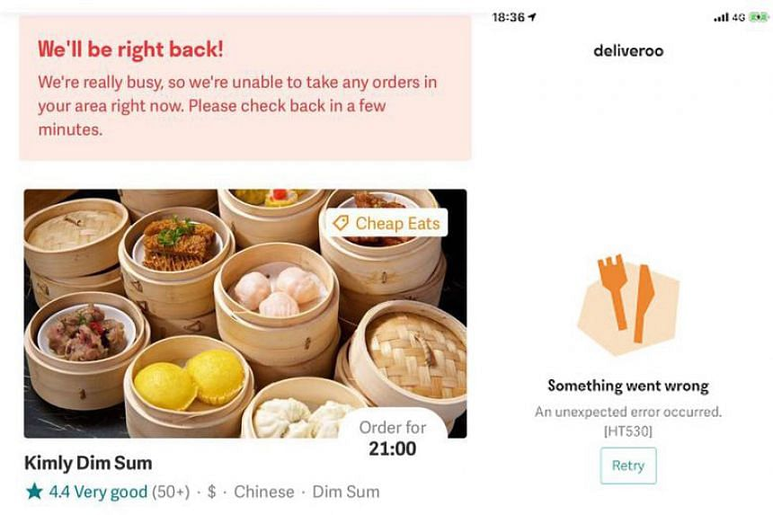 Deliveroo Down Hungry Customers Complain As Food Delivery