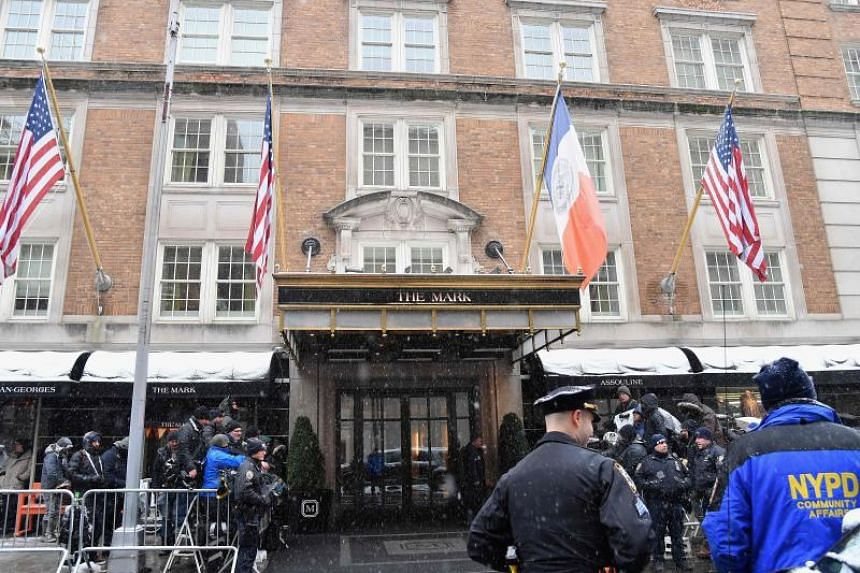 """The baby shower was hosted at Manhattan's Mark Hotel by Serena Williams, at what British papers referred to as """"the most expensive hotel suite in the US""""."""