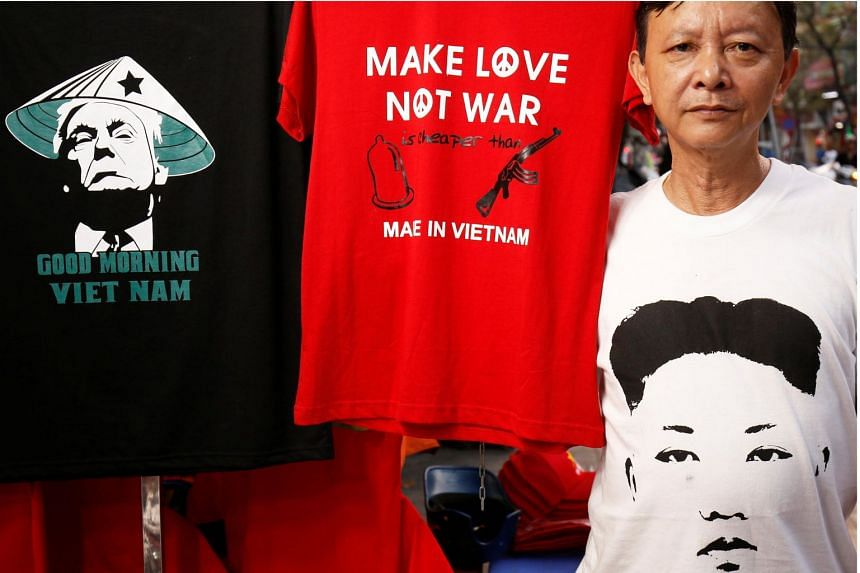 Mr Truong Thanh Duc said he had sold more than 300 of his special edition T-shirts, the profits of which he said would go towards buying baguettes - which are popular in the former French colony - to distribute to poor people.