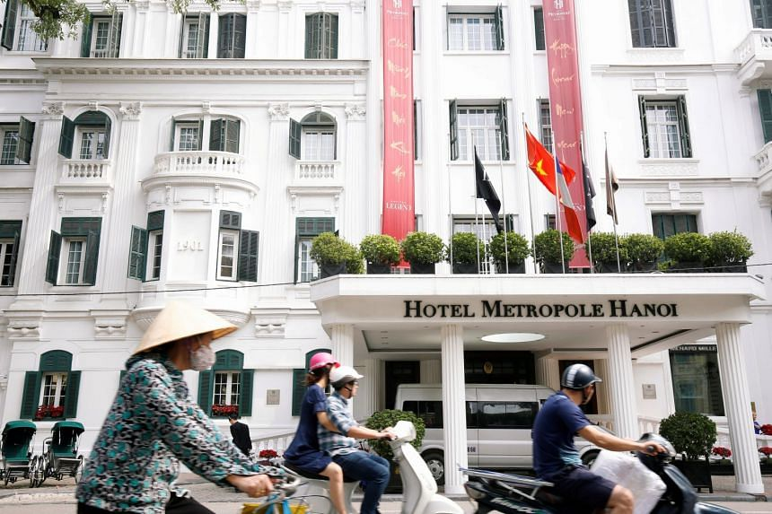 The Metropole Hotel (above) will be a backup location for the summit, sources told Reuters.