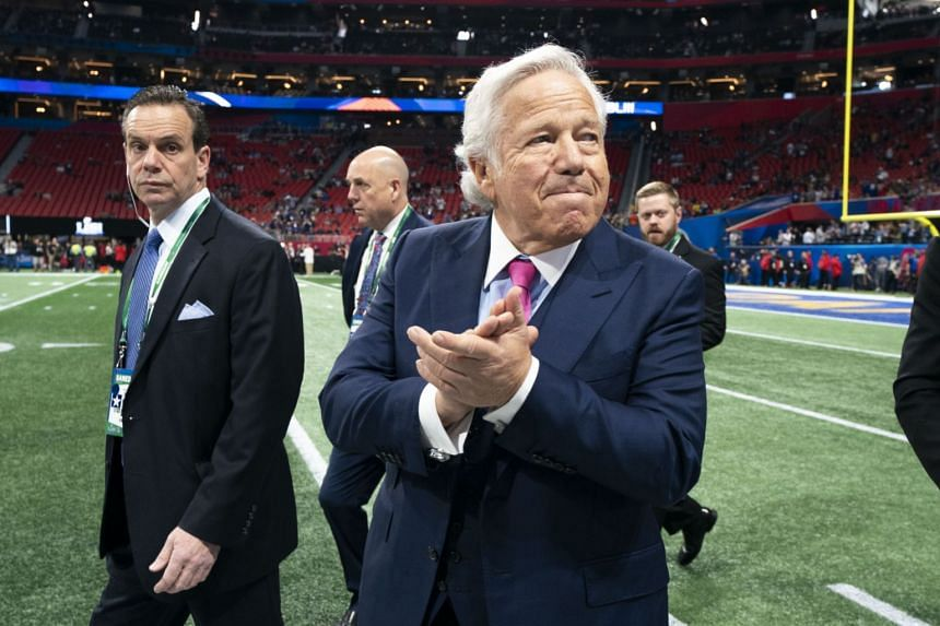 Kraft at the Super Bowl game between the Patriots and the Los Angeles Rams in Atlanta, Feb 3, 2019.