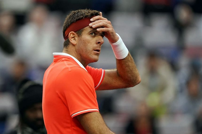Del Potro (above, in a file photo) was playing his first tournament since he injured his knee at the Shanghai Masters.