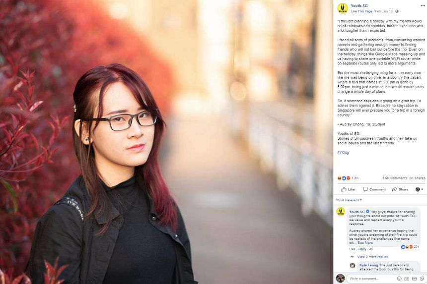 "Student Audrey Chong shared with online content provider Youth.SG how a holiday with her friends did not turn out to be ""all rainbows and sparkles"" as she had expected."