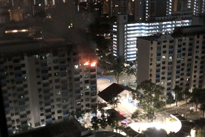 The Singapore Civil Defence Force said that it was alerted to the fire at 43 Bendemeer Road at 3.20am, on Feb 23, 2019. The fire occurred in the kitchen and it was extinguished by firefighters using a water jet.