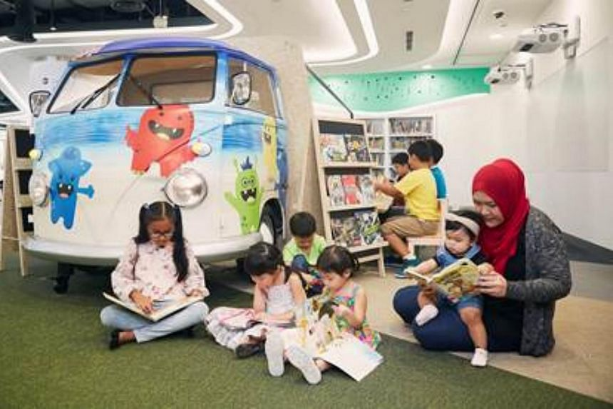 Children can see stories come to life with augmented reality books at the Tinker Truck, a dedicated maker space for children aged three to nine.