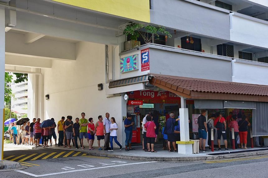 Earlier this week, people formed long lines outside Singapore Pools outlets in the hope of striking the huge jackpot.