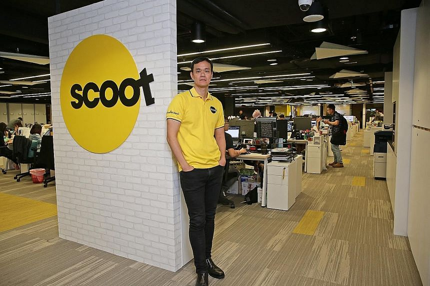 Scoot CEO Lee Lik Hsin (above) says a lot of work is being done to ensure operational resilience. Left: Passengers feel Scoot could have done a much better job taking care of their needs while they were stranded. PHOTO: SHIN MIN DAILY NEWS