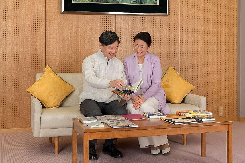 Crown Prince Naruhito and Crown Princess Masako in a photo provided by the Imperial Household Agency of Japan.