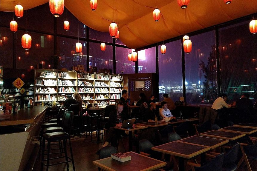 The Bookworm in Beijing opens till midnight daily, hosts regular writers' talks and groups, as well as a long-running annual literary festival.