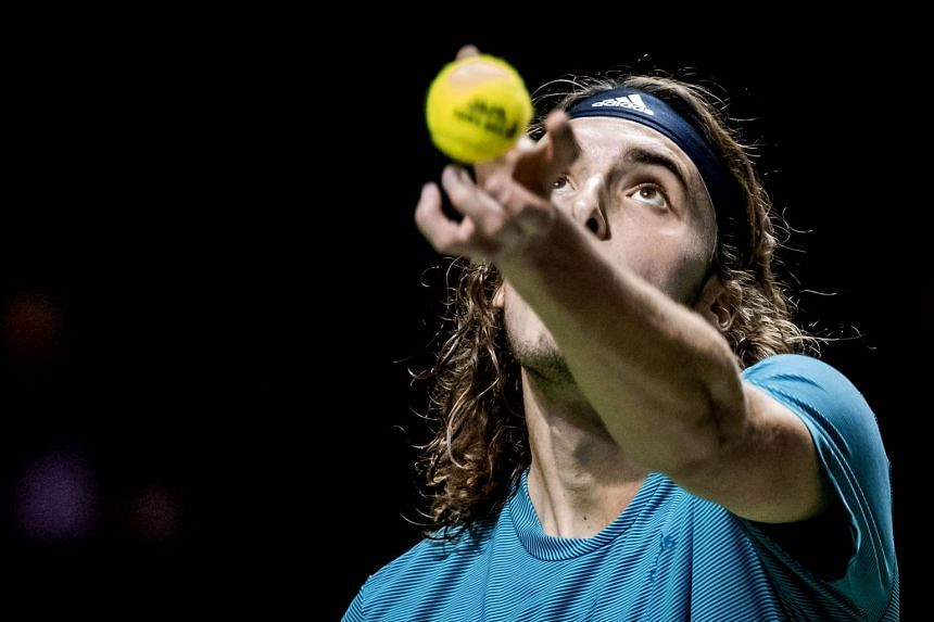 Top seed Tsitsipas (above, in a file photo) has yet to drop a set in the tournament.