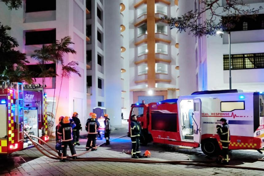 The Singapore Civil Defence Force were alerted to the fire at Block 517A Jurong West Street 52 around 1.30am on Feb 24, 2019.