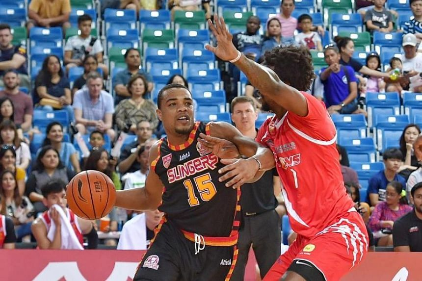 The Singapore Slingers' Xavier Allen Alexander in action during the Asean Basketball League match against the Westports Malaysia Dragons on Feb 24, 2019.
