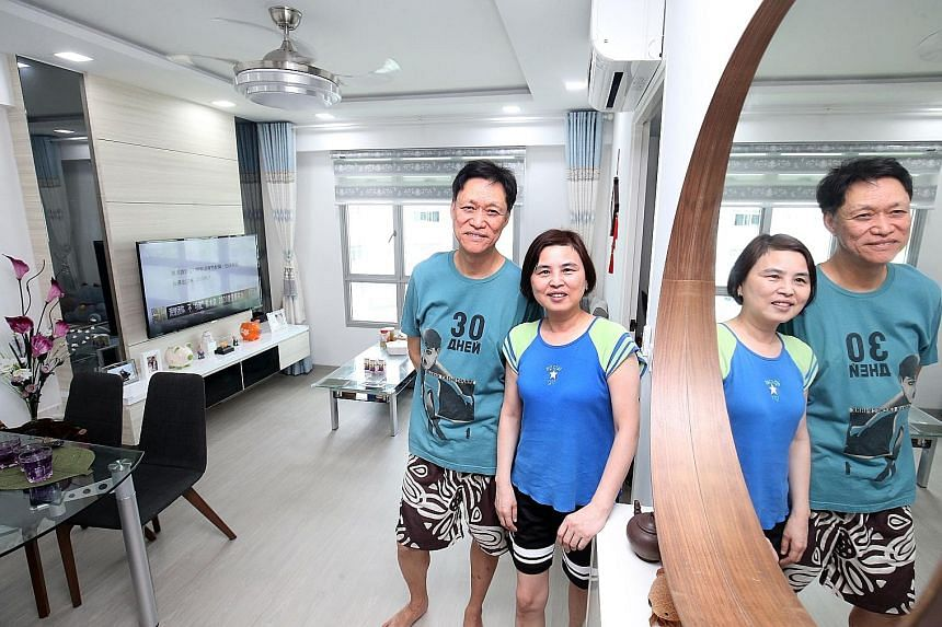 Mr Tan Hiok San, 68, and his wife Chen Yuxian, 58, downsized from their three-room flat in Chai Chee to a two-room flat with a 45-year lease. They paid $120,000 for it.