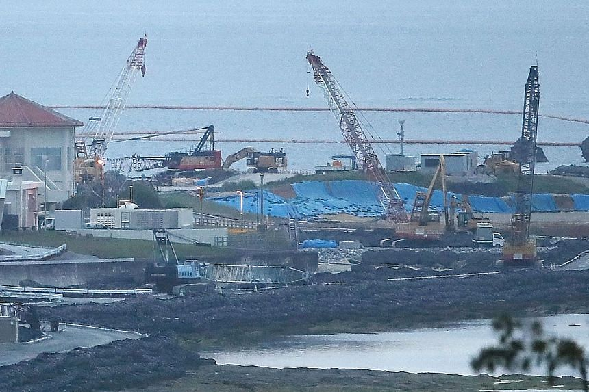 The relocation site of the US airbase that Okinawa residents rejected in the referendum on Sunday. What Okinawans really want is to move the base off their island, not to a remote site within the prefecture.