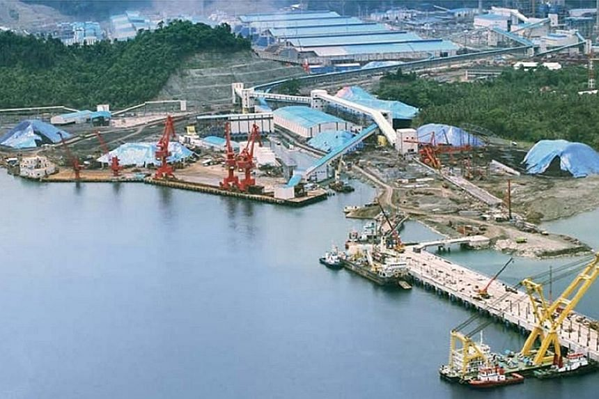 A cargo terminal in the Indonesia Morowali Industrial Park. It has its own seaport and power plants, with an airport to be completed this year. The park is expected to soon produce three million tonnes of stainless steel slabs a year.
