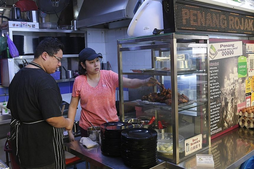 Ms Francesca Ung and her business partner Darrel Krishnan have been running Penang Chiak Ho Liao at Chinatown Complex, which closes on Friday for renovation. They have yet to decide on their future plans.