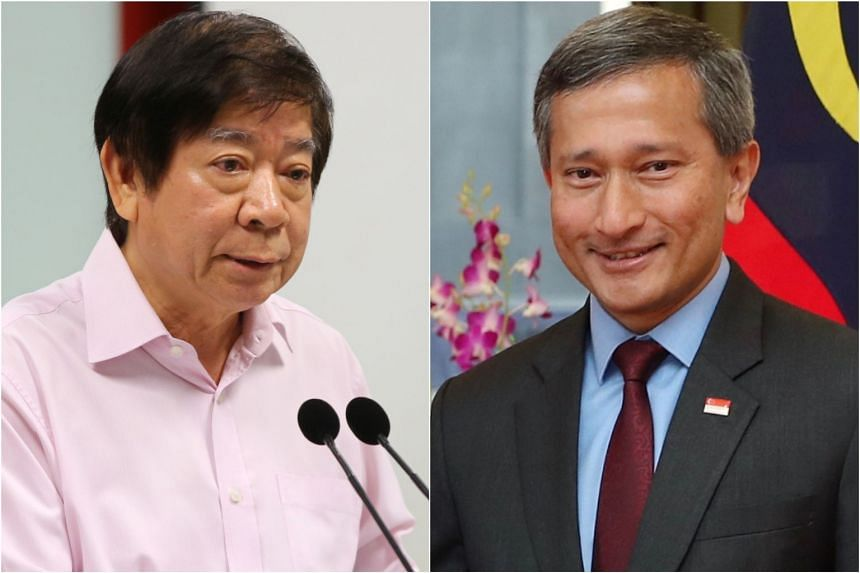 As Transport Minister Khaw Boon Wan (left) is currently warded and receiving treatment, Foreign Minister Vivian Balakrishnan has been appointed Acting Minister for Transport in the Singapore-Malaysia bilateral negotiations.