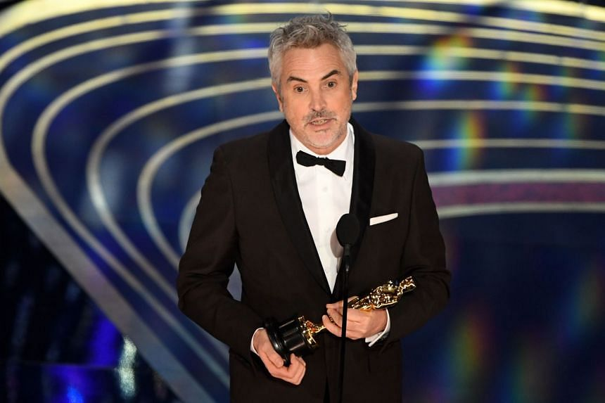 The black-and-white Netflix film, directed and written by Alfonso Cuaron, marked Mexico's first Oscar victory in the category.