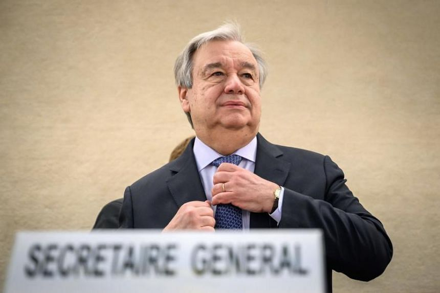 UN Secretary General Antonio Guterres (above) announced the effort, which will be led by his special adviser on genocide prevention Adama Dieng, at the UN Human Rights Council.