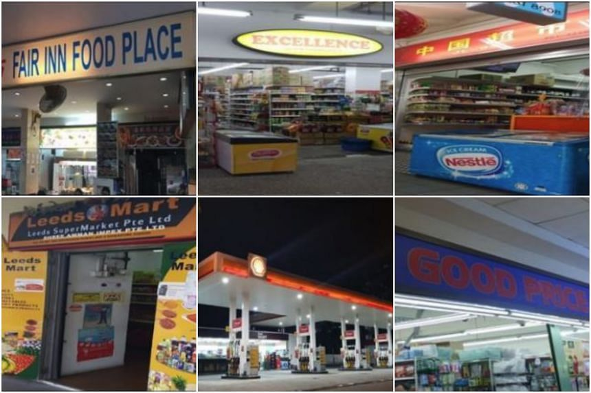 Fair Inn Food Place and Excellence Supermarket had their tobacco retail licences revoked. China Minimart, Leeds Mart, Shell Select and Good Price Centre had their licences suspended.