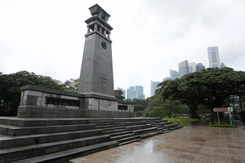 The Cenotaph was built in 1920 and extended in 1950 to honour soldiers who died in World Wars I and II, and was gazetted as a national monument in 2010.
