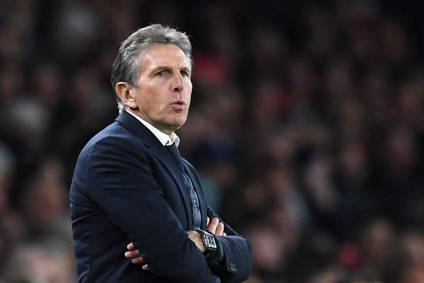 Claude Puel's 16-month reign came to an end after the 4-1 home defeat by Crystal Palace on Feb 23, Leicester's sixth defeat in seven matches.