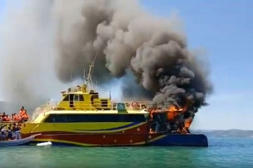 The ferry caught fire minutes after it departed from the Kuah Terminal in Langkawi.