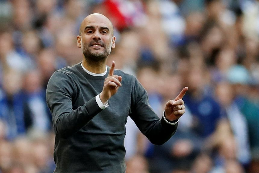 Guardiola (above) does not want excuses about tiredness, fixtures, schedules, or the number of games, he said.