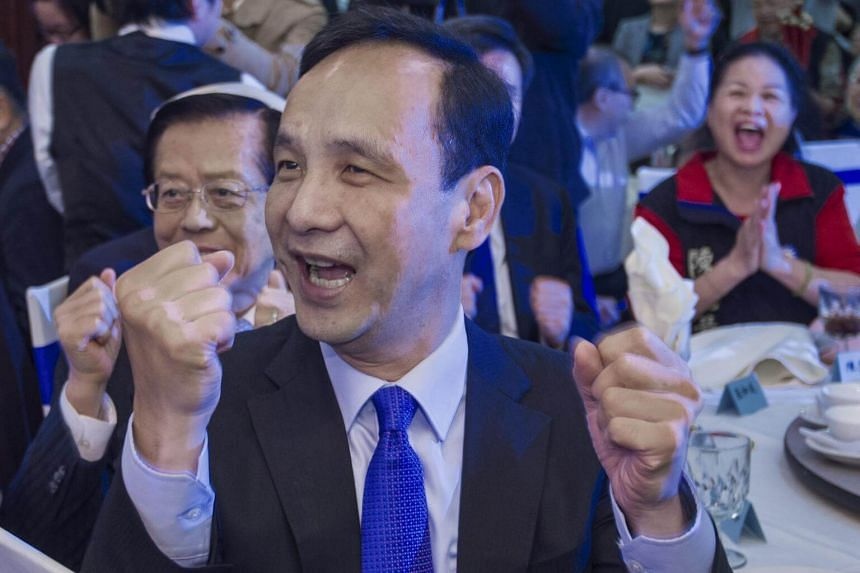 Taiwan presidential candidate Eric Chu said he would work to deepen communication with China's Communist Party without compromising the island's commitment to democracy.