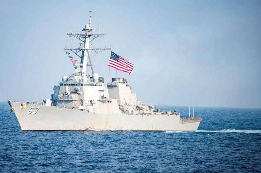 The USS Stethem, a guided-missile destroyer. It was one of two ships identified in the Taiwan Strait on Monday (Feb 25).