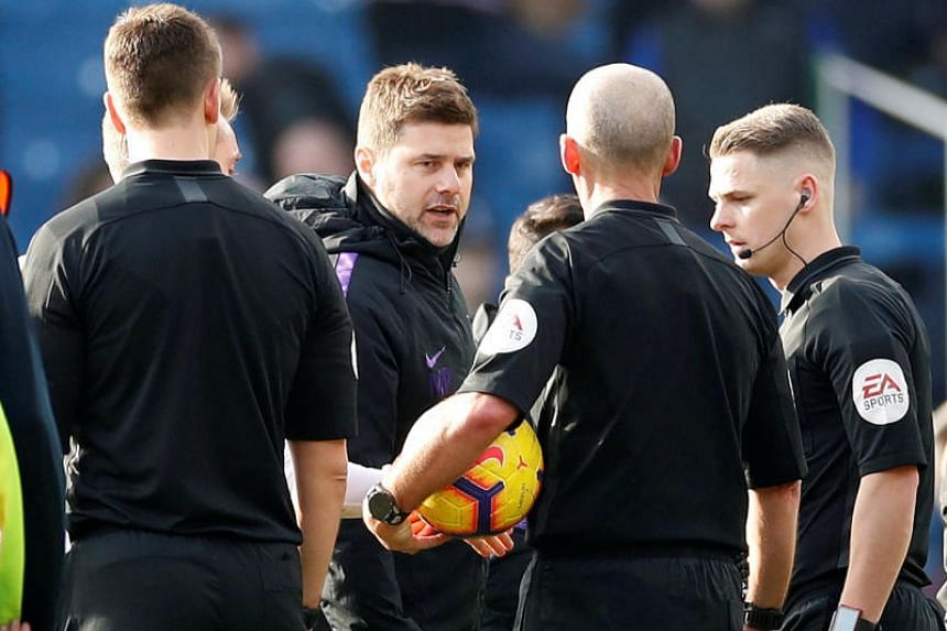 Tottenham Hotspur manager Mauricio Pochettino said he could offer no defence having watched replays of his heated exchange with referee Mike Dean following the 2-1 defeat by Burnley on Feb 23, 2019.