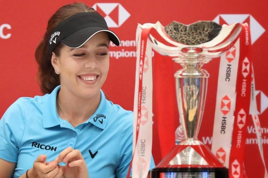 Georgia Hall will wear the same pair of shoes for the whole HSBC Women's World Championship tournament.