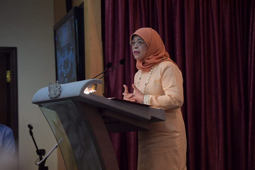 President Halimah Yacob said religious teachers can also be a great source of good in guiding the Malay community towards achieving progress and living peacefully with others.