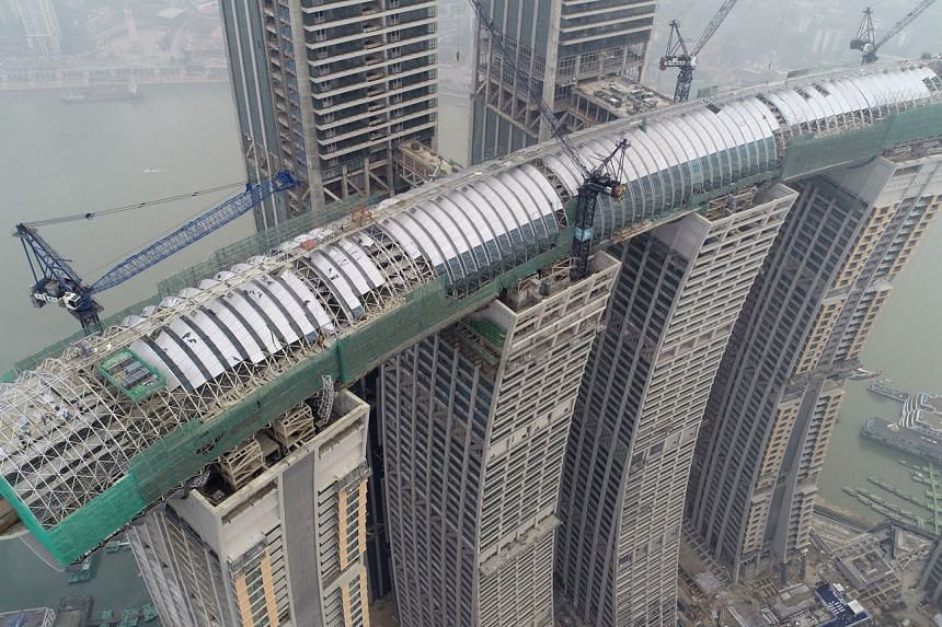 Skybridge called The Crystal (above)