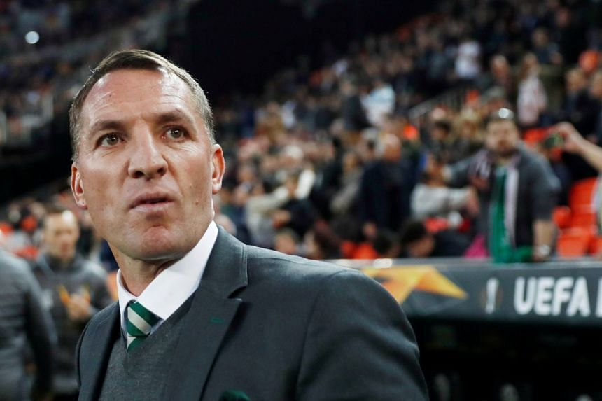 Brendan Rodgers before a Celtic match.