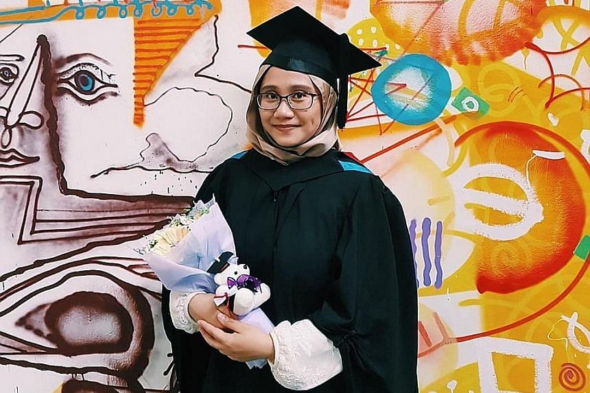 SUSS graduate Nurul Amira Azhar, 24, started work last July as an analyst with media intelligence firm Meltwater.
